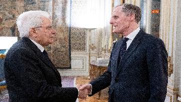 3 - Mattarella incontra l'ambasciatore francese Masset al Quirinale