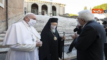 1 - Mattarella all'incontro internazionale di preghiera per la pace tra le religioni, le immagini