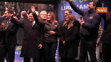 8 - Salvini, Meloni e Berlusconi chiudono la campagna elettorale in Emilia-Romagna a Ravenna, le immagini