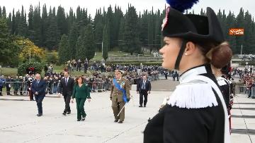 1 - 4 novembre, Casellati depone corona d'alloro al Sacrario militare di Redipuglia