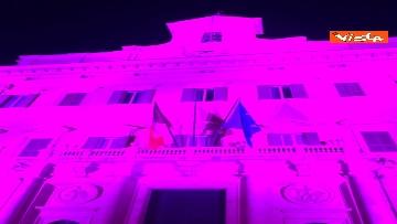 9 - Palazzo Montecitorio in rosa per la lotta al tumore al seno, Fico accende l'illuminazione