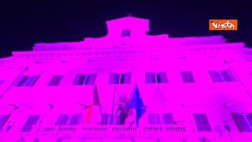 8 - Palazzo Montecitorio in rosa per la lotta al tumore al seno, Fico accende l'illuminazione