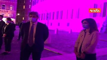 7 - Palazzo Montecitorio in rosa per la lotta al tumore al seno, Fico accende l'illuminazione