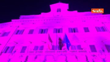 2 - Palazzo Montecitorio in rosa per la lotta al tumore al seno, Fico accende l'illuminazione