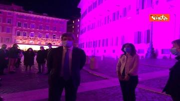 5 - Palazzo Montecitorio in rosa per la lotta al tumore al seno, Fico accende l'illuminazione