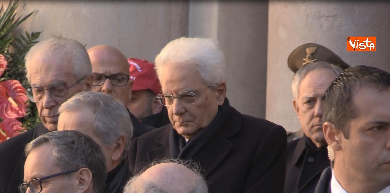 Il presidente Mattarella ai funerali