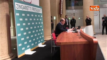 4 - Zingaretti vince alla Regione Lazio, la prima conferenza stampa dopo la riconferma