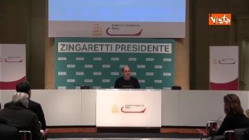 1 - Zingaretti vince alla Regione Lazio, la prima conferenza stampa dopo la riconferma