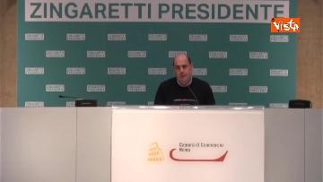 2 - Zingaretti vince alla Regione Lazio, la prima conferenza stampa dopo la riconferma