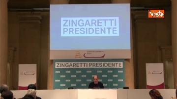 3 - Zingaretti vince alla Regione Lazio, la prima conferenza stampa dopo la riconferma