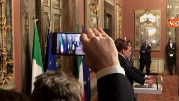 7 - Berlusconi, Bernini e Gelmini al termine delle Consultazioni al Senato