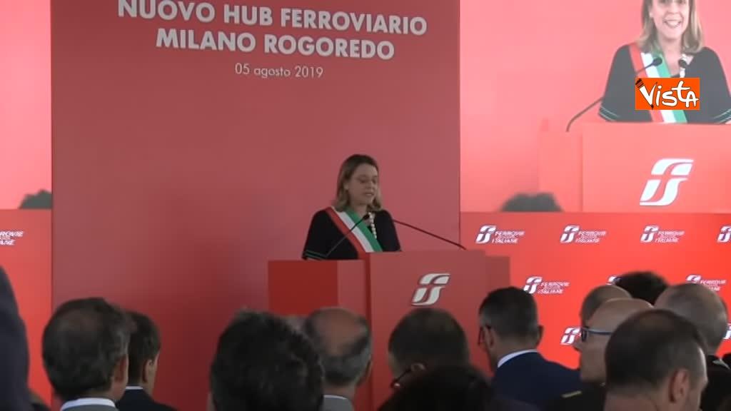 05-08-19 Hub Milano Rogoredo Fs presenta potenziamento con Battisti Toninelli Salvini_Il vicesindaco di Milano Anna Scavuzzo_07
