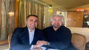 1 - Di Maio incontra Beppe Grillo all'Hotel Forum a Roma