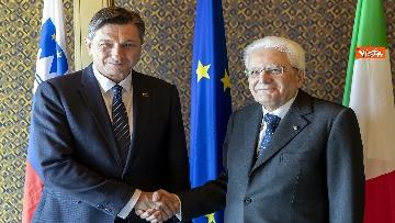 2 - Mattarella incontra il Presidente della Repubblica di Slovenia, Borut Pahor