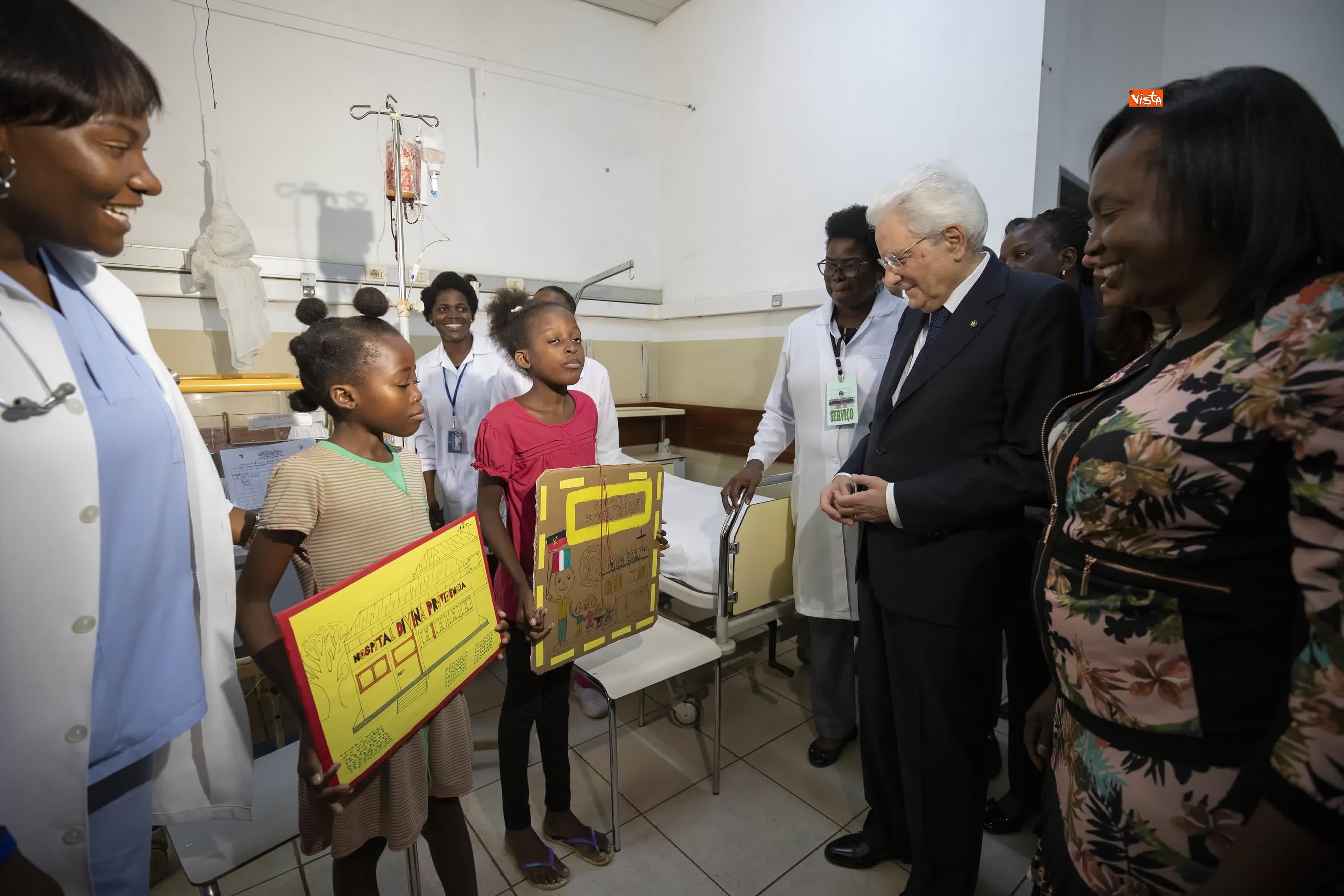 06-02-19 Mattarella in Angola visita Ospedale Divina Provvidenza_05
