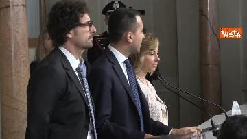 3 - Delegazione M5s dopo consultazioni con Mattarella