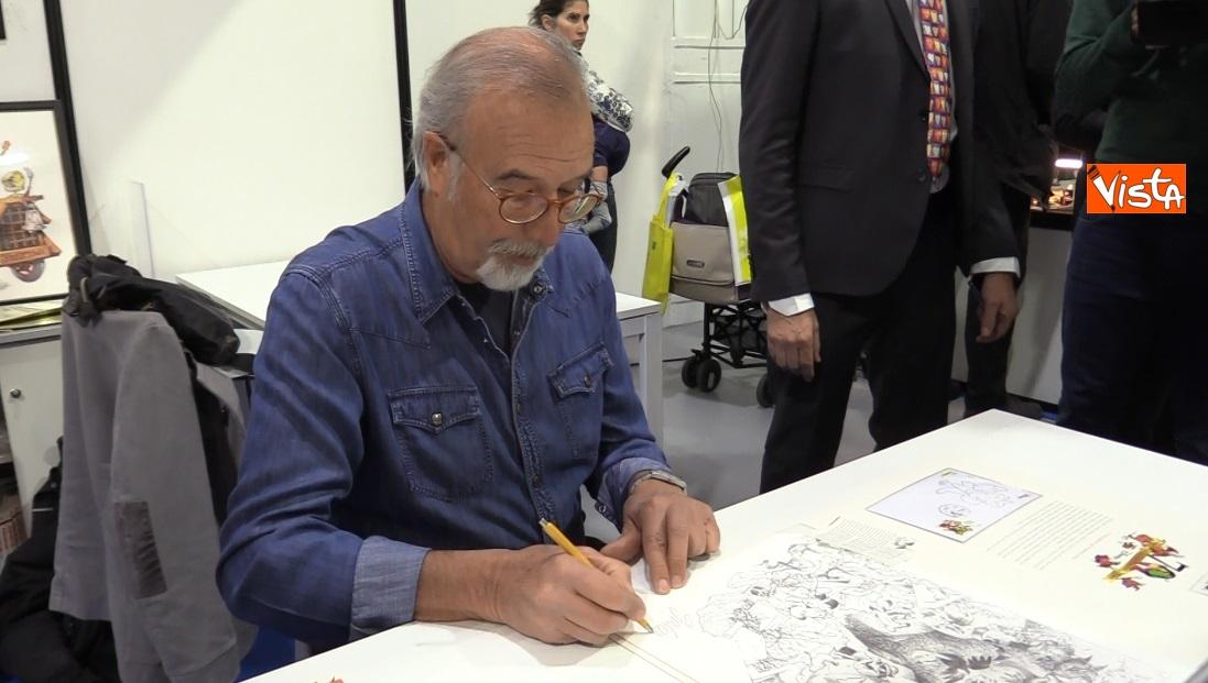 Il fumettista Giorgio Cavazzano all'inaugurazione di Milanofil 2019