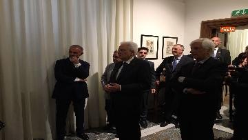 2 - Mattarella visita mostra 'Segnare le ore. Gli orologi del Quirinale'