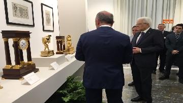 5 - Mattarella visita mostra 'Segnare le ore. Gli orologi del Quirinale'