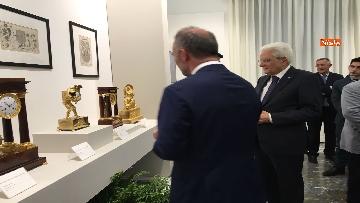 4 - Mattarella visita mostra 'Segnare le ore. Gli orologi del Quirinale'