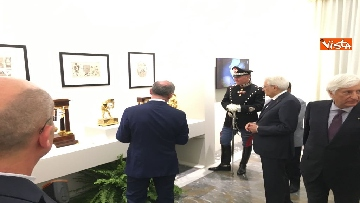 11 - Mattarella visita mostra 'Segnare le ore. Gli orologi del Quirinale'