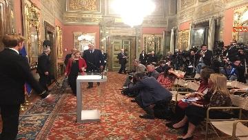 10 - Meloni, Rampelli e Crosetto al termine delle Consultazioni al Senato