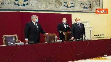 1 - Berlusconi e la delegazione di Forza Italia arrivano a Montecitorio per le consultazioni con Draghi