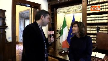 2 - Casellati l'intervista dopo proclamazione: Convergenza su mia elezione incoraggi formazione Governo
