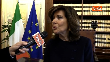 4 - Casellati l'intervista dopo proclamazione: Convergenza su mia elezione incoraggi formazione Governo