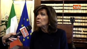 5 - Casellati l'intervista dopo proclamazione: Convergenza su mia elezione incoraggi formazione Governo