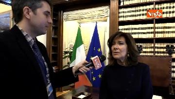 6 - Casellati l'intervista dopo proclamazione: Convergenza su mia elezione incoraggi formazione Governo