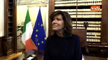 7 - Casellati l'intervista dopo proclamazione: Convergenza su mia elezione incoraggi formazione Governo