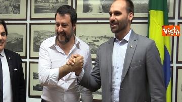 6 - L'incontro a Milano tra Salvini e E. Bolsonaro
