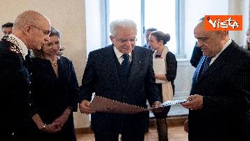 9 - Mattarella visita la mostra 'L'arte di salvere l'arte'
