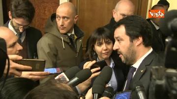 6 - Salvini al Senato per incontrare i neo eletti della Lega