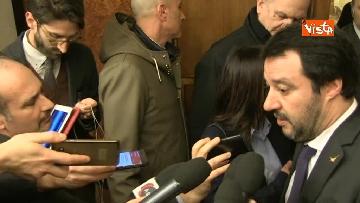 5 - Salvini al Senato per incontrare i neo eletti della Lega