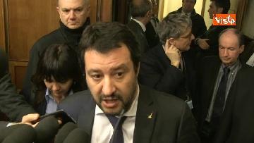 2 - Salvini al Senato per incontrare i neo eletti della Lega