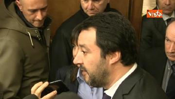 4 - Salvini al Senato per incontrare i neo eletti della Lega