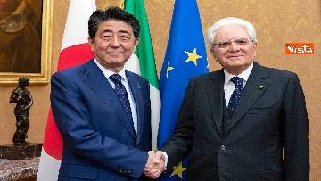 6 - Mattarella accoglie Shinzo Abe, primo ministro giapponese, al Quirinale