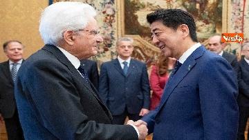 3 - Mattarella accoglie Shinzo Abe, primo ministro giapponese, al Quirinale