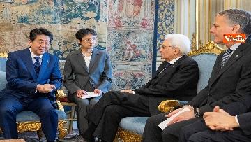 4 - Mattarella accoglie Shinzo Abe, primo ministro giapponese, al Quirinale