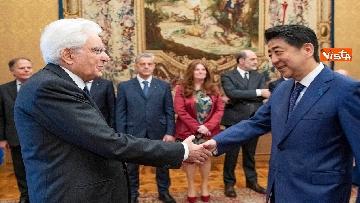5 - Mattarella accoglie Shinzo Abe, primo ministro giapponese, al Quirinale