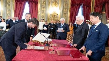 1 - Il giuramento del Ministro dei Beni Culturali Dario Franceschini