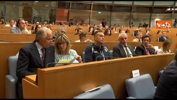 8 - Malagò e Giorgetti a convegno 'Emergenza Cancro' a Montecitorio