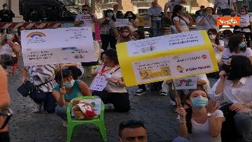 3 - Nidi privati, la protesta a Montecitorio contro il dl Rilancio