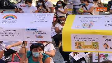 9 - Nidi privati, la protesta a Montecitorio contro il dl Rilancio