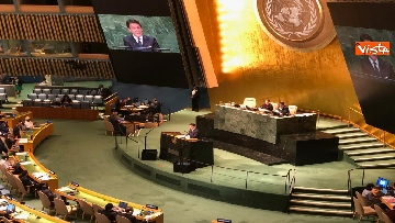 12 - Il premier Conte interviene all'Assemblea Generale delle Nazioni Unite