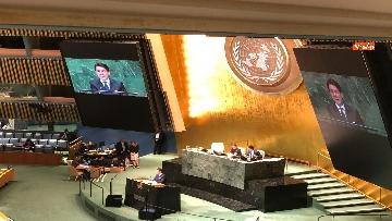 13 - Il premier Conte interviene all'Assemblea Generale delle Nazioni Unite