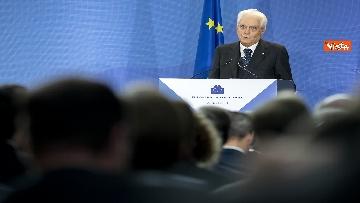 3 - Mattarella alla Bce con Merkel e Macron per l'addio di Draghi