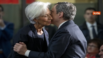 5 - Mattarella alla Bce con Merkel e Macron per l'addio di Draghi